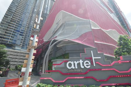 Exterior building of Arte Plus located in Kuala Lumpur where you can enjoy homestay or vacation rental with IdealHub